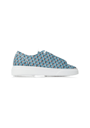 By Walid Sultan Printed Cotton-Canvas Low-Top Sneakers