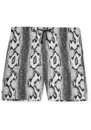 Wacko Maria - Snake-Print Shell Shorts - Men - Gray