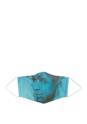 Wedel Art Collective - X Lorna Simpson Printed Cotton Face Covering - Mens - Blue