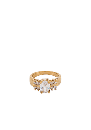 Vanessa Mooney The Thea Ring in Metallic Gold. Size 6,7.