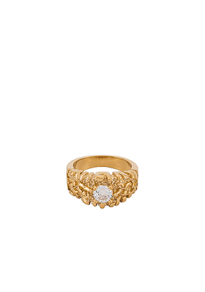 Vanessa Mooney The Pippa Ring in Metallic Gold. Size 6,7.