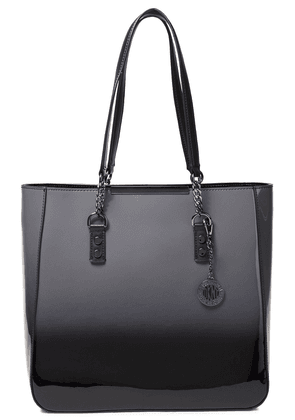Dkny Dégradé Glossed-leather Tote Woman Anthracite Size --
