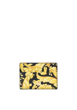 Versace Baroque-print Leather Card Holder