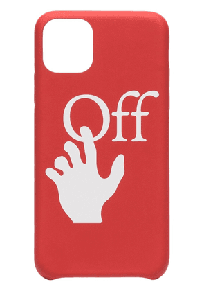 Off-White Hand logo-print iPhone 11 Pro Max case - Red
