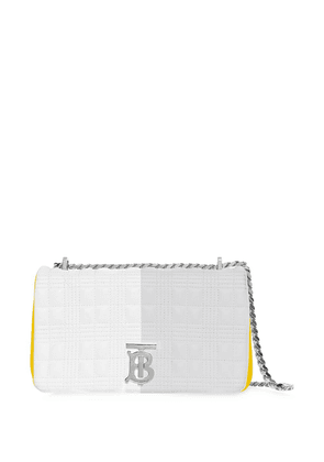 Burberry small quilted tri-tone Lola bag - Grey