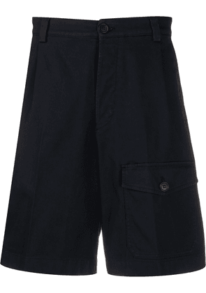 Prada pocket detail wide-leg shorts - Blue