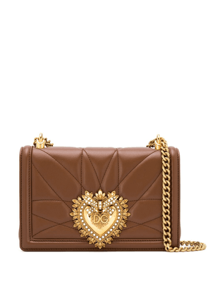Dolce & Gabbana medium Devotion quilted crossbody bag - Brown