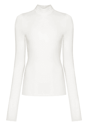 Remain Margot roll neck top - White