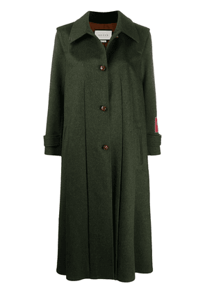 Gucci single-breasted swing coat - Green