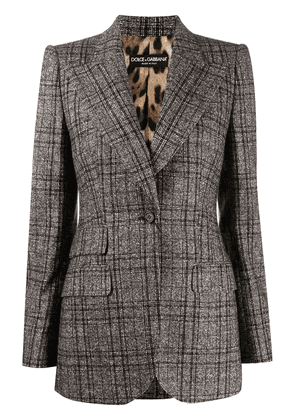 Dolce & Gabbana checked single-breasted blazer - Brown