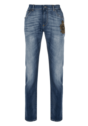 Dolce & Gabbana faded slim-fit jeans - Blue