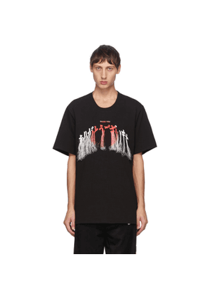 Doublet Black Thank You Fringe Embroidery T-Shirt