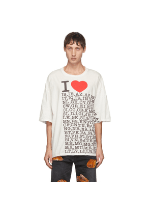 Doublet White I Love Compressed Earth T-Shirt