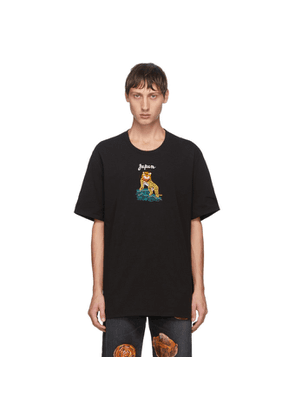 Doublet Black Puppet Animal Embroidery T-Shirt