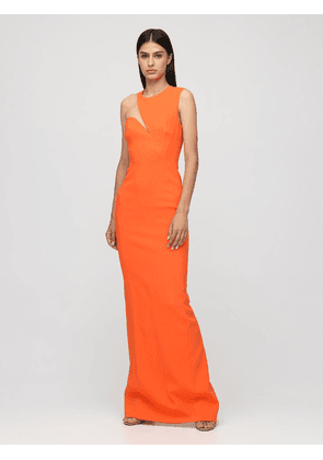 One-shoulder Cady Long Dress