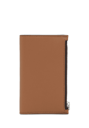 Logo Embossed Two Tone Leather Wallet