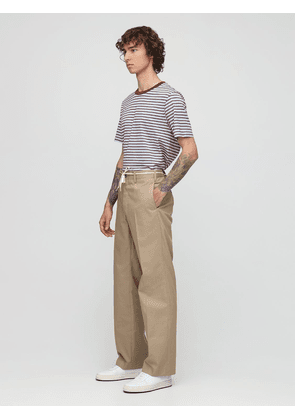 24.5cm Cotton Blend Gabardine Pants