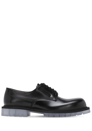 Brushed Leather Lace-up Derby Shoes