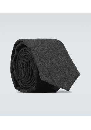 Wool and cashmere tie