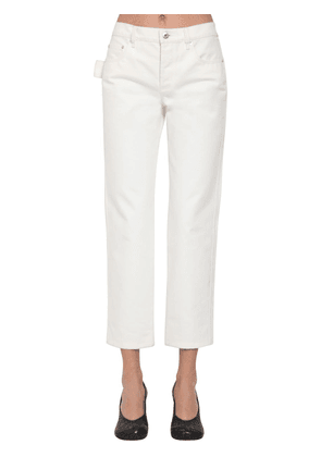 Cropped Cotton Denim Pants