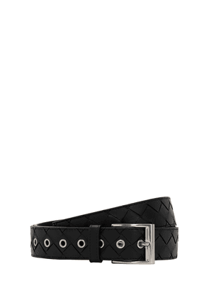 35mm Maxi Intrecciato Leather Belt