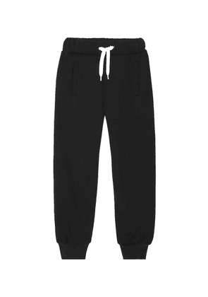 Logo cotton track pants