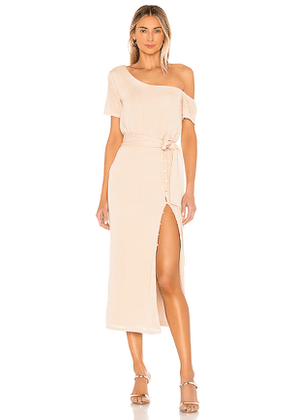 Privacy Please Eden Midi Dress in Tan. Size M,S,XS,XXS.