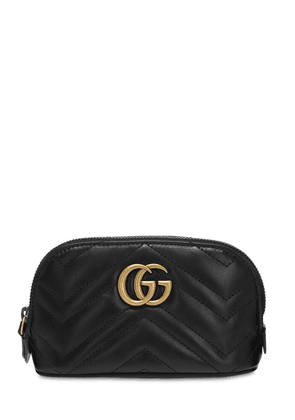 Small Gg Marmont Leather Beauty Bag
