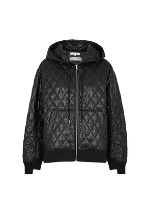 Clu Black Quilted Ripstop Shell Jacket