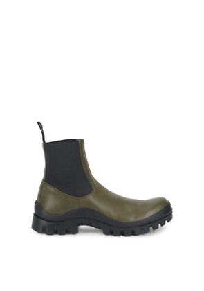 ATP Atelier Catania Green Leather Chelsea Boots