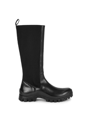 ATP Atelier Bitonto Black Leather Knee-high Boots