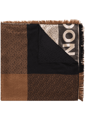 Burberry Monogram jacquard scarf - Brown