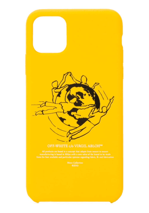Off-White planet print iPhone 11 Pro case - Yellow