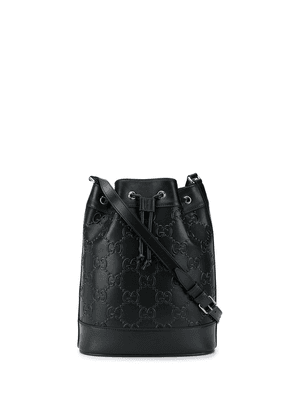 Gucci GG pattern bucket bag - Black