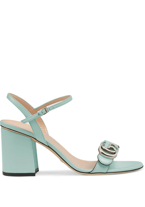 Gucci Double G mid-heel sandals - Green