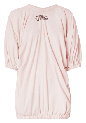 Burberry Location-print gathered T-shirt - PINK