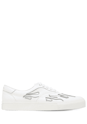 Flame Low Lace-up Canvas Sneakers