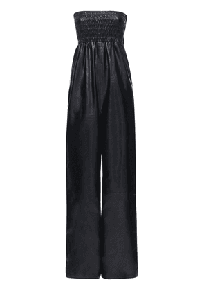 Strapless Patent Leather Jumpsuit