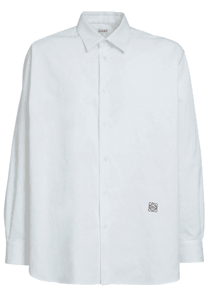 Logo Oversize Cotton Oxford Shirt