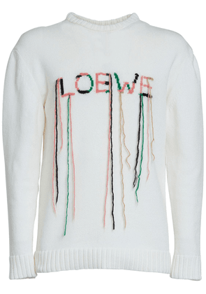 Logo Knit Cotton Blend Sweater