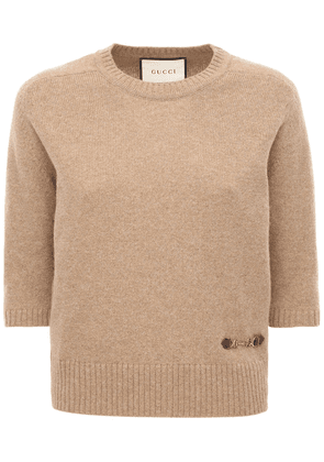 Cashmere Knit Top W/ Horsebit
