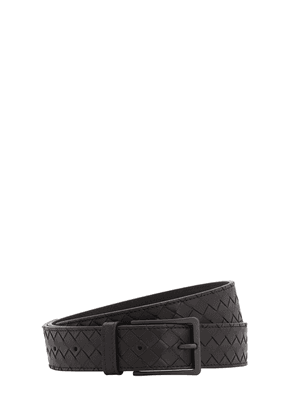 40mm Intrecciato Leather Belt