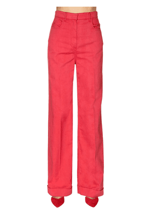 Cotton Drill Wide Leg Pants