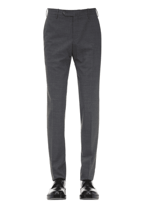 19cm Slim Fit Wool Blend Pants