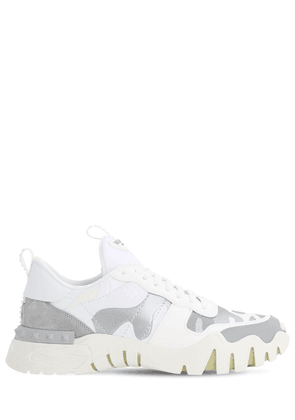 Leather & Canvas Sneakers