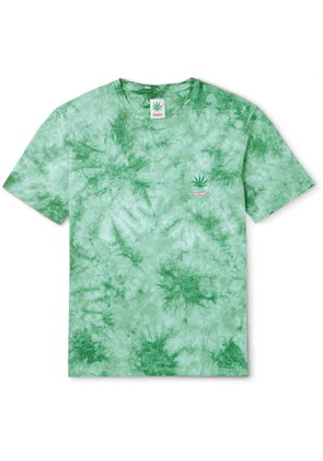 Wacko Maria - High Times Tie-Dyed Cotton-Jersey T-Shirt - Men - Green