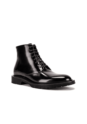 Saint Laurent Cesna 20 Lace Up Boot in Black - Black. Size 42 (also in 41,43,44,45).