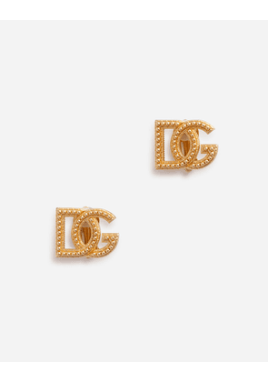 Dolce & Gabbana Bijoux - CLIP-ON EARRINGS WITH DG LOGO GOLD