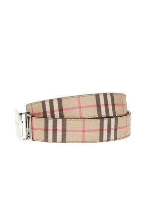 Burberry Checked Belt Men's Multicolor