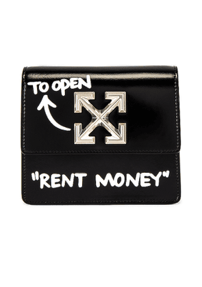 OFF-WHITE Turn To Open Jitney 0.7 in Black.